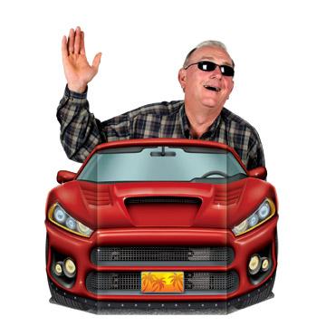 "Sports Car Photo Prop 3' 1"" x 25"""