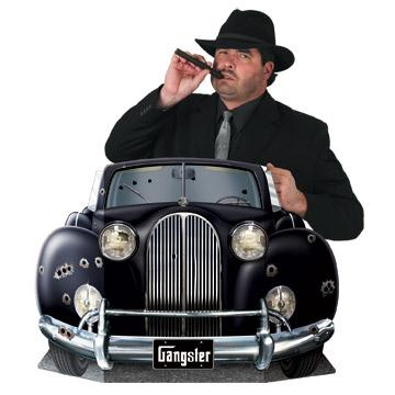 "Gangster Car Photo Prop 3' 1"" x 25"""