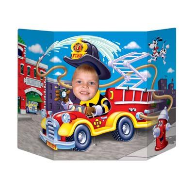 """Fire Truck Photo Prop 3' 1"""" x 25"""""""