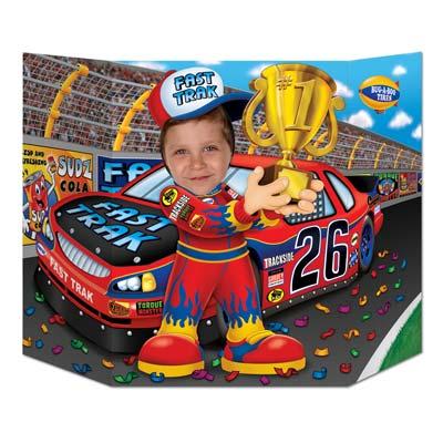 "Race Car Driver Photo Prop 3' 1"" x 25"""