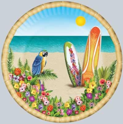 "Paradise Plates 9"""