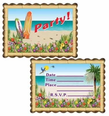Aloha Invitations