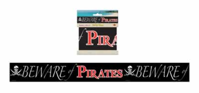 "Beware Of Pirates Party Tape 3"" x 20'"