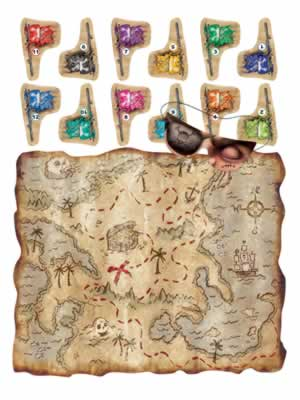 """Pirate Treasure Map Party Game 17½"""" x 19½"""""""