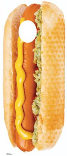 Hotdog Cardboard Stand-in