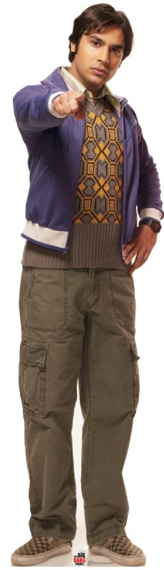 Raj - The Big Bang Theory Cardboard Cutout Standup Prop