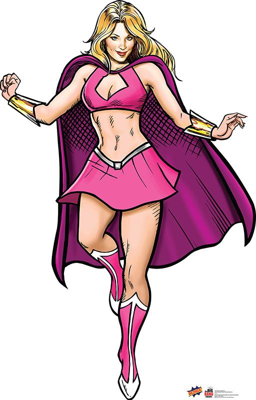 Penny Superhero - The Big Bang Theory Cardboard Cutout Standup Prop