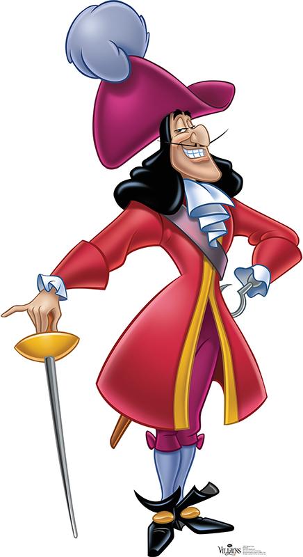 Captain Hook - Disney Villain Cardboard Cutout Standup Prop