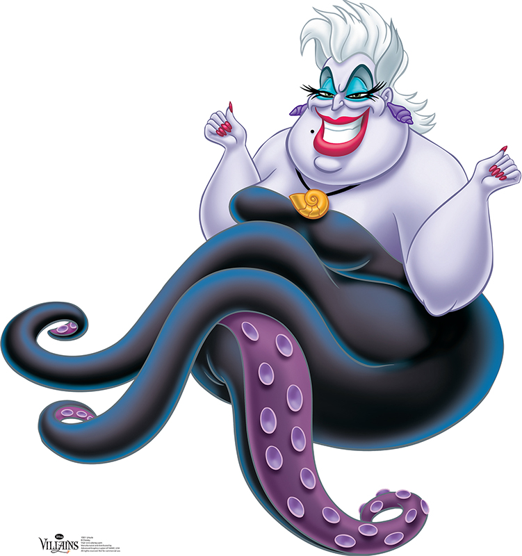 Ursula - Disney Villain Cardboard Cutout Standup Prop