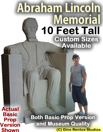 10 Foot Abraham Lincon Memorial Foam Prop