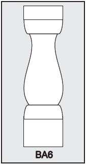 BA6 - Architectural Foam Shape - Baluster