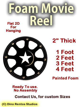 Big Flat Film Reel Foam Prop