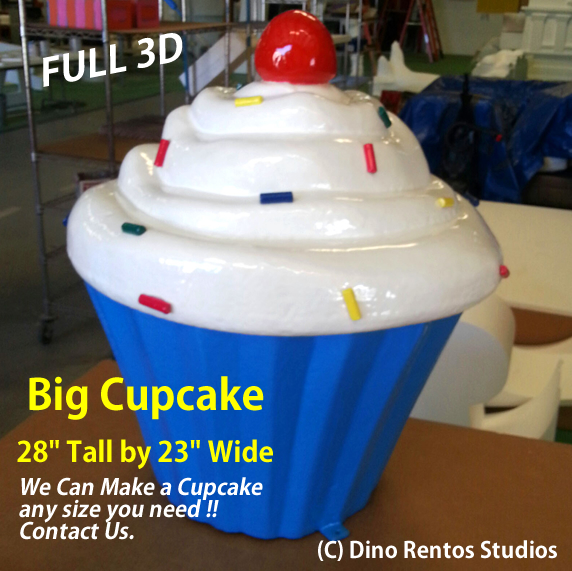 "Big Foam Cupcake Prop - 28"" Tall"