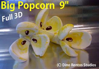 Big Foam Popcorn Props - 9 Inch
