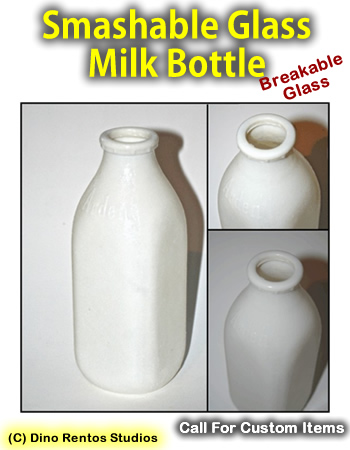 Vintage Dairy Milk Bottle Smashable Prop