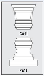 CA11-PE11 - Architectural Foam Shape - Capital & Pedestal