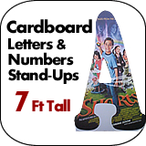 7 Foot Tall Cardboard Letters-Numbers Standup