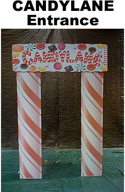 Candy Lane Entrance Cardboard Cutout Standup Prop