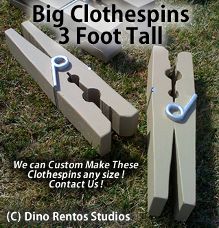 Big Foam Clothespin Prop - 3 Foot Tall