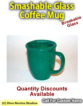 Large Cafe Style Coffee Mug Smashable Prop