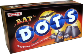 Dots Halloween Bat Box 3D Cardboard Standup Prop