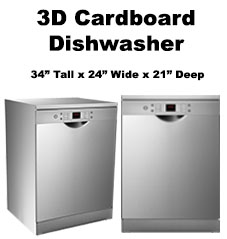 3D Cardboard Dishwasher
