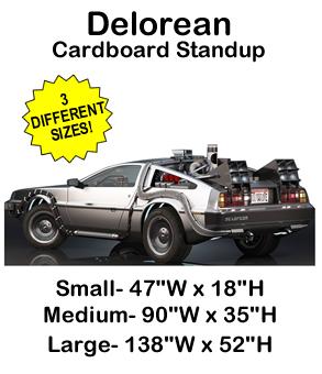 Delorean Cardboard Cutout Standup Prop