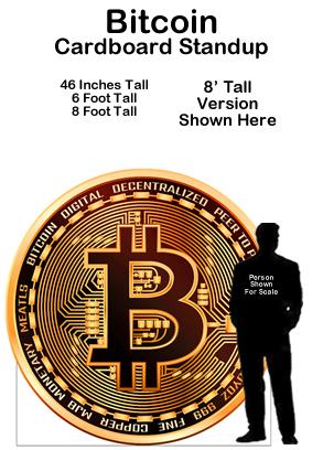 Bitcoin Cardboard Cutout Standup Prop