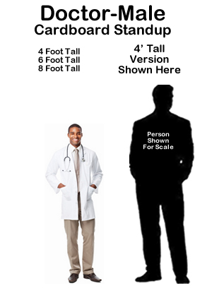 Dr Male Cardboard Cutout Standup Prop