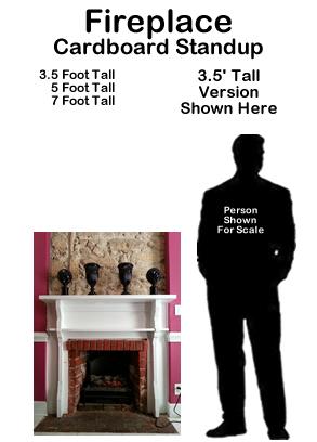 Fireplace Cardboard Cutout Standup Prop