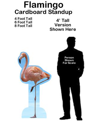 Flamingo Cardboard Cutout Standup Prop