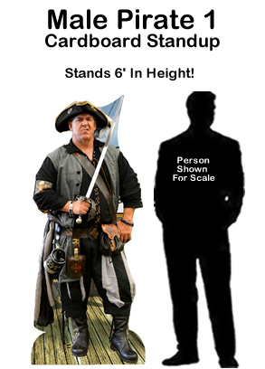 Male Pirate 1 Cardboard Cutout Standup Prop