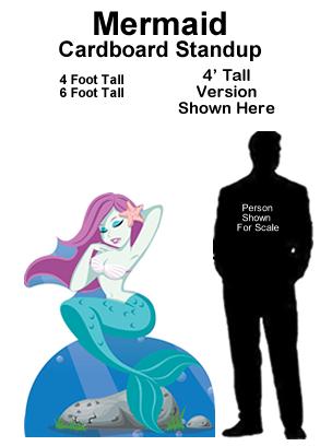 Mermaid Cardboard Cutout Standup Prop