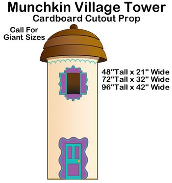 Munchkin Village Tower - Wizard of Oz Cardboard Cutout Standup Prop