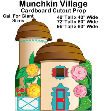 Munchkin Village - Wizard of Oz Cardboard Cutout Standup Prop