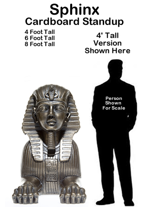 Egyptian Sphinx Cardboard Cutout Standup Prop