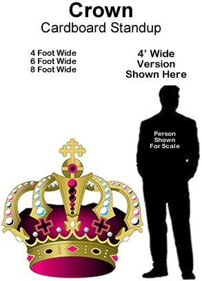 Crown Cardboard Cutout Standup Prop