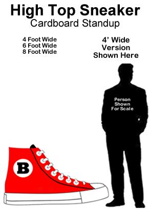 High Top Sneaker Cardboard Cutout Standup Prop