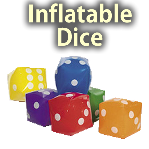 """Inflatable 12"""" Dice Props"""