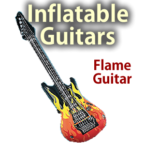"""Inflatable 39"""" Flame Guitar"""