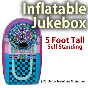 5 Foot Inflatable Jukebox