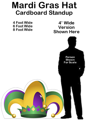 Mardi Gras Hat Cardboard Cutout Standup Prop