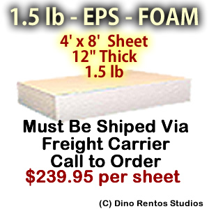 EPS Foam Sheet - 1.5 lb Density - 48x96x12