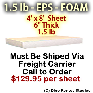 EPS Foam Sheet - 1.5 lb Density - 48x96x6