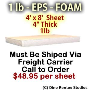 EPS Foam Sheet - 1 lb Density - 48x96x4