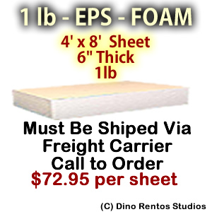 EPS Foam Sheet - 1 lb Density - 48x96x6