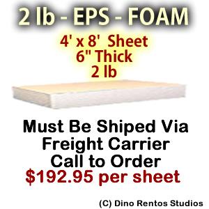 EPS Foam Sheet - 2 lb Density - 48x96x6