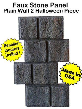 Faux Stone Panel Plain Wall-2 Halloween