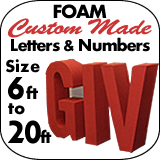 Foam Letters - Custom - Any Size
