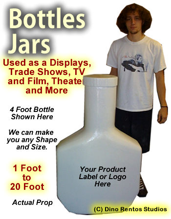Giant/Big Foam Bottle Prop - Any Size
